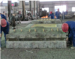 Crusher Jaw Plate Mould Assembling