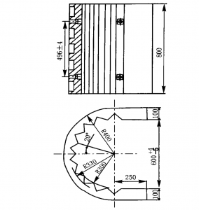 Structure drawing of U-shape plate